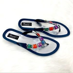 Grandco Women's Stained Glass Thong Sandal Size 10